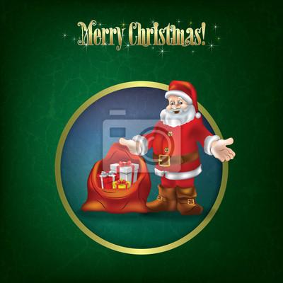 Weihnachten Grunge Gruß mit Santa Claus