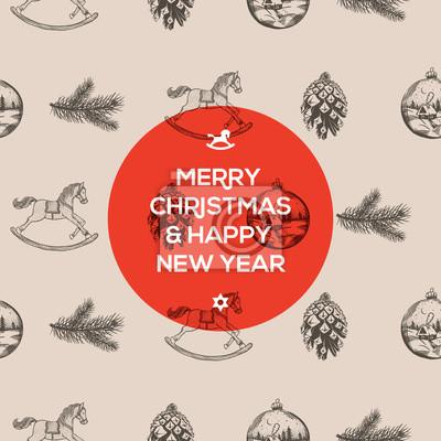 Weihnachten Hand gezeichnete Muster, Vektor-Illustration eps10.