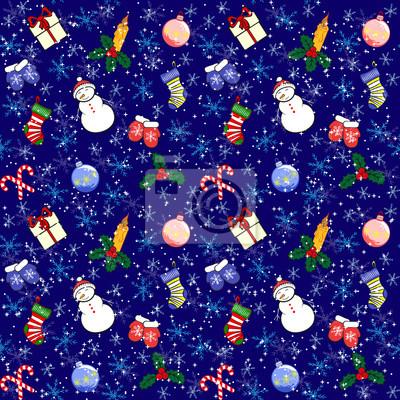 Hintergrund Weihnachten.Fototapete Weihnachten Hintergrund Fur Die Dekoration Bunte Nahtlose Muster