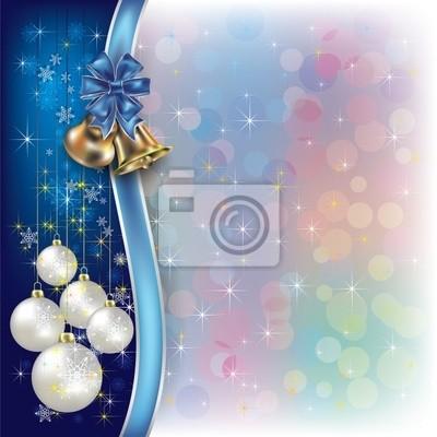 Weihnachten Hintergrund mit Bändern und Glocken