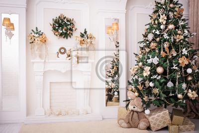 Innenarchitektur In Der Nähe weihnachten hintergrund neujahr innenarchitektur verzierter