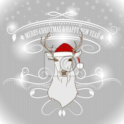 Weihnachten Hirsch Grußkarte