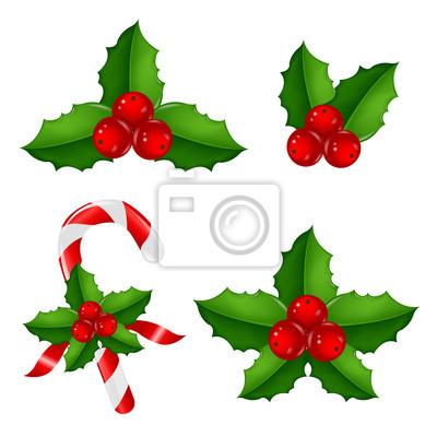 Weihnachten Holly Berry Set