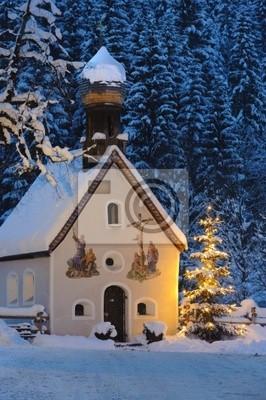 Weihnachten Kirche.Fototapete Weihnachten Kapelle Kirche