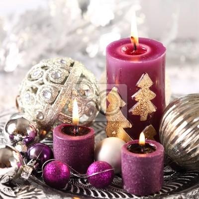 Schmuck Weihnachten.Fototapete Weihnachten Kerzen Und Schmuck