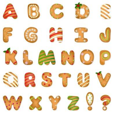 Fototapete Weihnachten Lebkuchen Alphabetisch