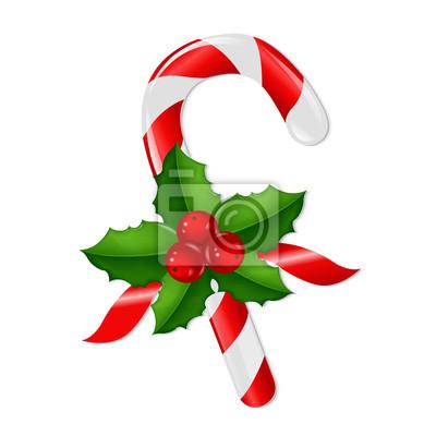 Weihnachten Lollypop Mit Holly Berry