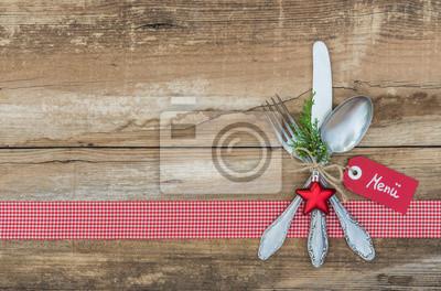 Menü Weihnachten.Fototapete Weihnachten Menü Karte Essen Advent Tischgedeck