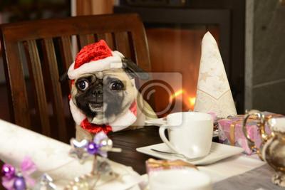 Mops Bilder Weihnachten.Fototapete Weihnachten Mops