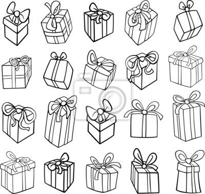 Weihnachten Oder Geburtstag Geschenke Ausmalbilder Fototapete