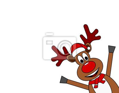 Bilder Rentiere Weihnachten.Fototapete Weihnachten Rentiere