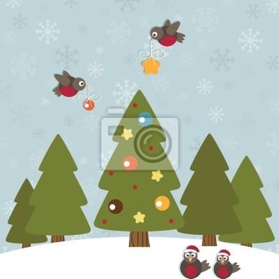 Weihnachten Rotkehlchen