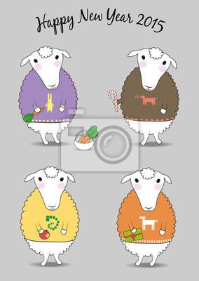 Weihnachten Schafe