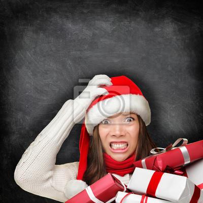 Geschenke Weihnachten Frau.Fototapete Weihnachten Urlaub Stress Betonte Geschenk Frau