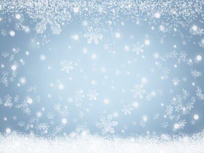 Weihnachten winter schnee hintergrund fototapete • fototapeten ...