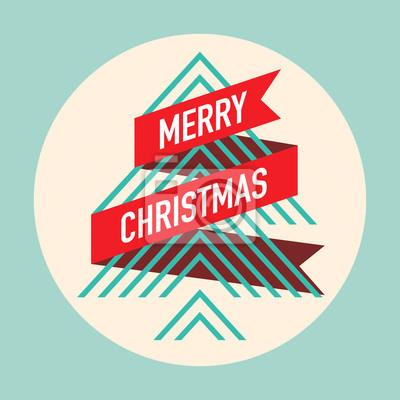 Weihnachts-grußkarte. weihnachtsbaum modernen design. fototapete ...