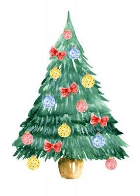 Weihnachtsbaum Gezeichnet.Fototapete Weihnachtsbaum Aquarell Von Hand Gezeichnet