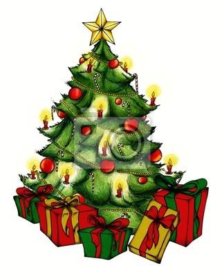 weihnachtsbaum christbaum weihnachten heiligabend fototapete fototapeten tanne feierliche. Black Bedroom Furniture Sets. Home Design Ideas