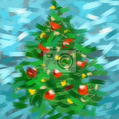 Weihnachtsbaum Gezeichnet.Fototapete Weihnachtsbaum Gezeichnet Durch Pastell