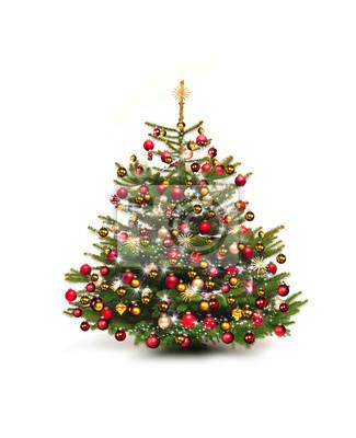 Schmuck Für Weihnachtsbaum.Fototapete Weihnachtsbaum Mit Nostaglischem Schmuck