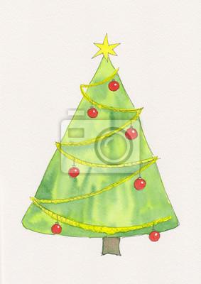 Stern Auf Weihnachtsbaum.Weihnachtsbaum Mit Stern Fototapete Fototapeten Christbaumschmuck