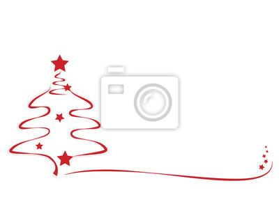 Sterne Für Weihnachtsbaum.Fototapete Weihnachtsbaum Mti Roten Sternen