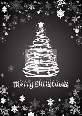 Weihnachtsbaum Schwarz.Fototapete Weihnachtsbaum Schwarz