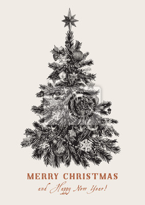 Weihnachtsbaum Schwarz.Fototapete Weihnachtsbaum Schwarz Und Weiß