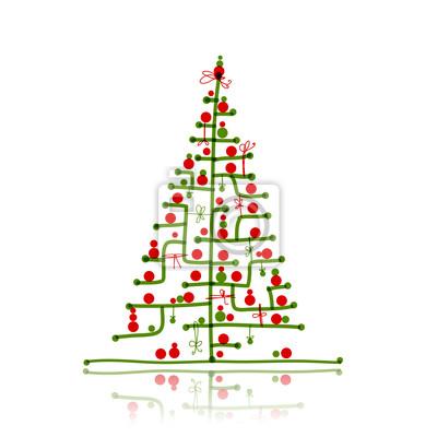 Weihnachtsbaum Skizze Fur Ihr Design Fototapete