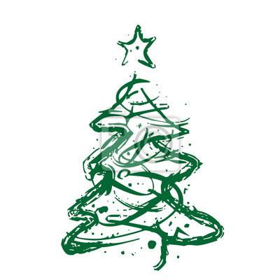 Stern Auf Weihnachtsbaum.Weihnachtsbaum Stern Abstrakt Vektor Fototapete Fototapeten