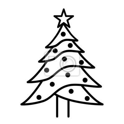 Symbol Weihnachtsbaum.Fototapete Weihnachtsbaum Symbol Auf Weißem Hintergrund