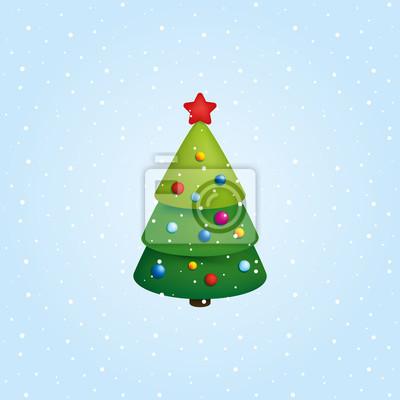 Symbol Weihnachtsbaum.Fototapete Weihnachtsbaum Symbol Vektor Illustration