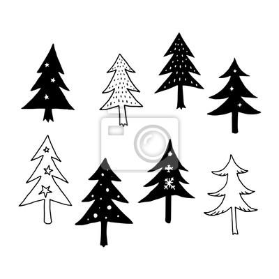 Weihnachtsbaum Vektor Fototapete Fototapeten Minimal Dekorieren