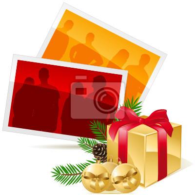 Weihnachtsbilder Tannenzweig.Fototapete Weihnachtsbilder