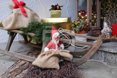 Weihnachtsdeko Haustür.Fototapete Weihnachtsdeko Vor Der Haustür