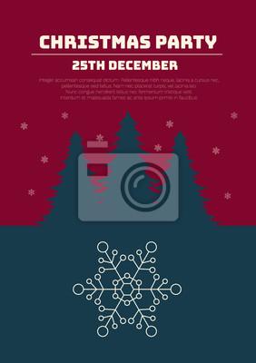 Weihnachtsfeier Plakat.Fototapete Weihnachtsfeier Einladung Weihnachtsfeiertagsflieger Oder Plakat