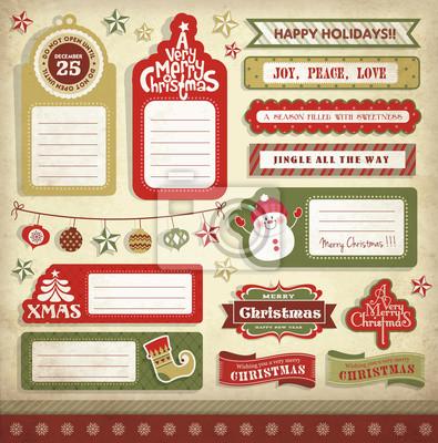 Weihnachtsgeschenkumbauten, -aufkleber u. -aufkleber fototapete ...