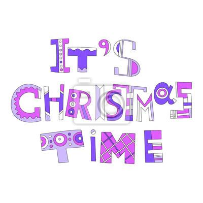 Weihnachtskarten Beschriften.Fototapete Weihnachtsgrüße Dekorative Beschriftung Für Weihnachtskarten