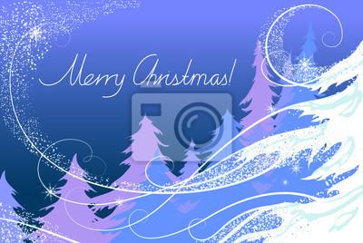Weihnachtskarte, der Wald