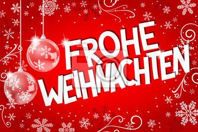 Schriftzug Frohe Weihnachten Beleuchtet.Fototapete Weihnachtskarte Mit Frohe Weihnachten