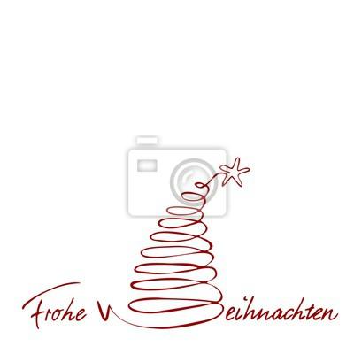 Schriftzug Frohe Weihnachten.Fototapete Weihnachtskarte Mit Schriftzug Frohe Weihnachten Handgemalt Und