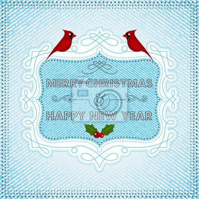 Weihnachtskarte wit Kardinal