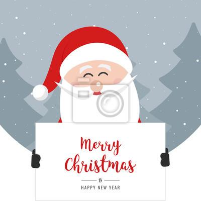Frohe Weihnachten Grüße.Fototapete Weihnachtsmann Halten Banner Frohe Weihnachten Gruß Text Kreis