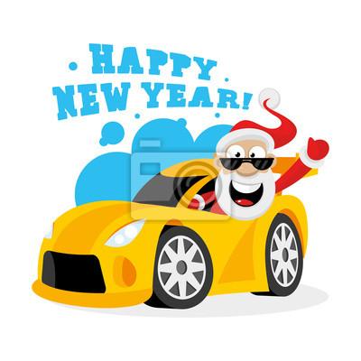 Weihnachtsmann Im Auto Fototapete Fototapeten Supersportwagen