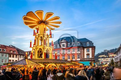 Heidelberg Weihnachtsmarkt.Fototapete Weihnachtsmarkt Heidelberg