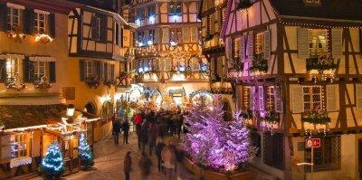 Colmar Weihnachtsmarkt.Fototapete Weihnachtsmarkt In Colmar Elsass Frankreich