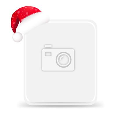 Weihnachtsmütze mit leeren Geschenk-Tag