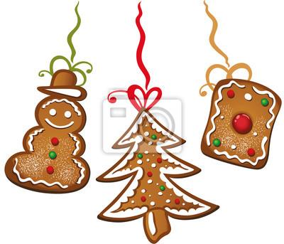 Tannenbaum Aus Plätzchen.Fototapete Weihnachtsplätzchen Lebkuchen Schneemann Tannenbaum Und Plätzchen
