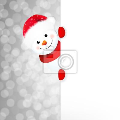 Weihnachtsschneemann Poster