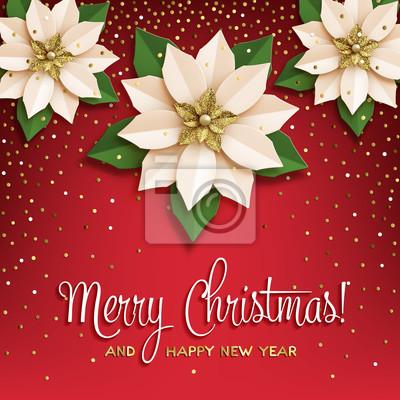 Weihnachtsstern Poster Mit Papier Weihnachtsstern Weiss Mit Gold